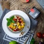 Rezept für Mango-Erdnusssalat mit Minze