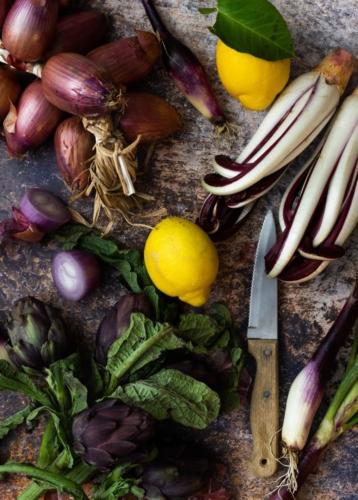 Gemüse und Zitrone